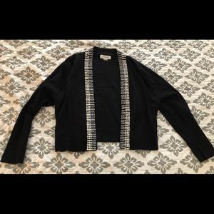 Calvin Klein Pearl Lined Black Sweater